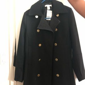 Black coat from HM. This was limited edition.